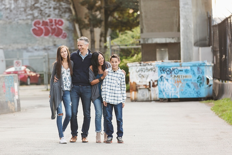 Urban Family Portraits in Vancouver